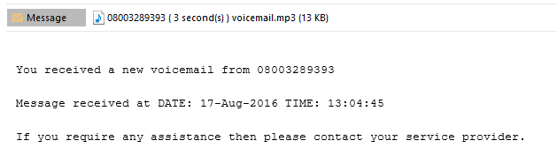 voicemail email notification